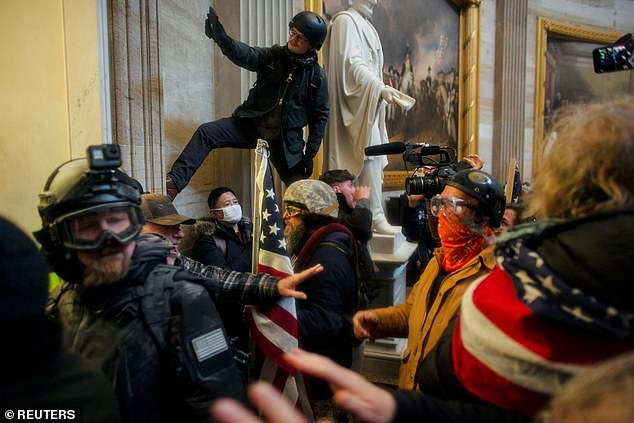 The Architect of the Capitol and the House's curator will testify before a House subcommittee Wednesday about the January 6 insurrection. In pre-written testimony, the curator said eight pieces from the House Collection were damaged