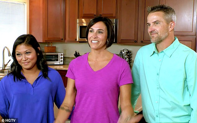 Three's company: Brian, 47, Lori, 42, and Angelica 'Geli,' 28, were the first throuple featured on HGTV when they appeared in the episode 'Three's Not a Crowd in Colorado Springs