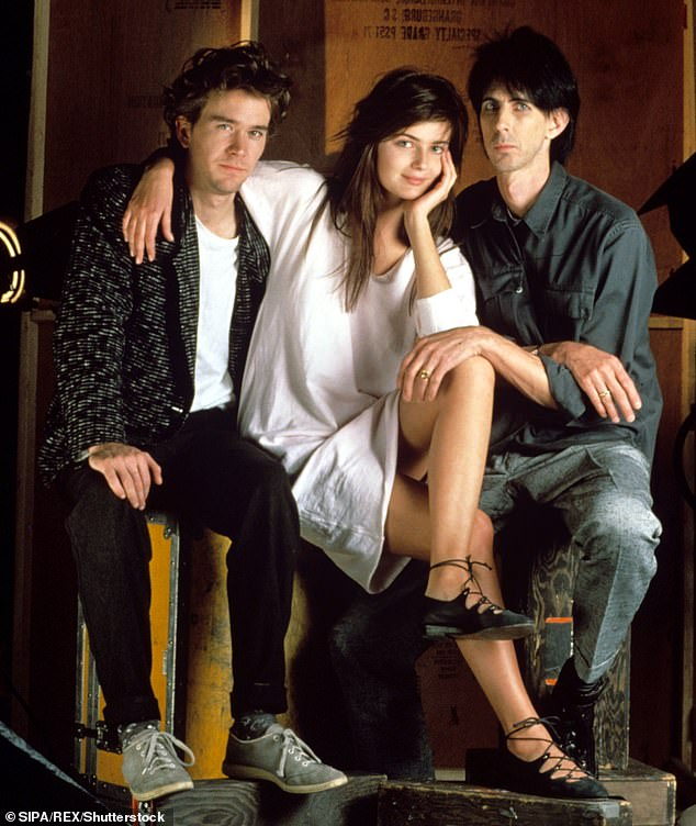 Memories:The supermodel met her late husband Ric Ocasek on the set of the music video for The Cars' hit 'Drive' in 1984 (pictured) when she was only 19
