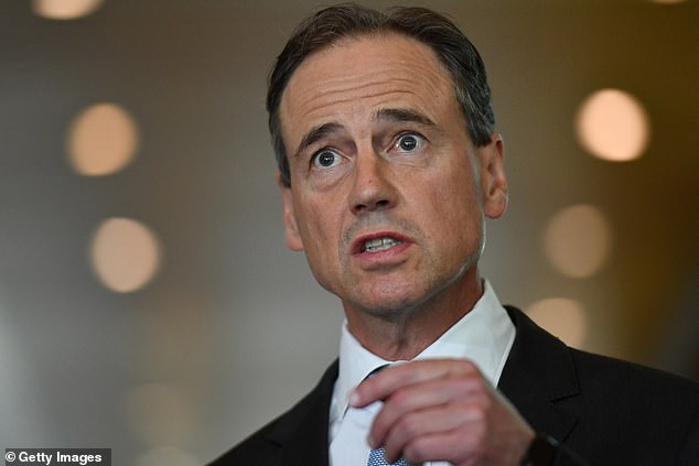 Minister for Health Greg Hunt addressed the nation's vaccine rollout and bungle on Wednesday morning (pictured)