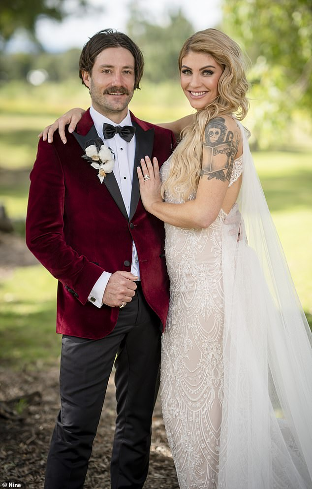 Married at first sight SPOILER: Telltale signs Booka Nile, 31 (right) and Brett Helling, 31, (left) have already split - although they have been called the 'golden couple' of this season