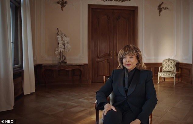 The trailer begins with a shot of Tina in the present day, sitting down for a chat as a voice off-camera says: 'This is interview one, take one'