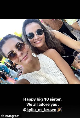 Special day: Lauren also shared a selfie with the caption: 'Happy big 40 sister. We all adore you'