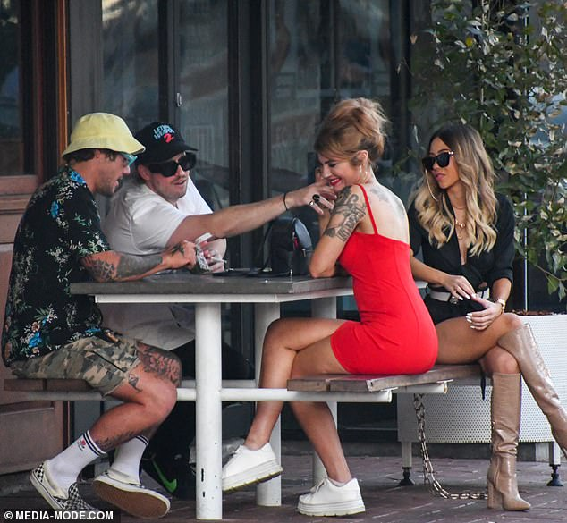 Where's Brett? Married At First Sight star Booka Nile put on a flirty display with a male friend in Perth in December after filming the reality TV show, fueling rumours she and her 'husband' Brett Helling have already split