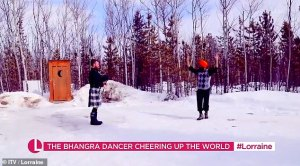 Canadian dancer Bhangra who went viral tells Lorraine that dancing helped him stay positive