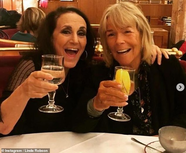 Ouch: Last month, Loose Women panellist Linda left Pauline out of a gushing Instagram post paying tribute to her 'favourite girls'