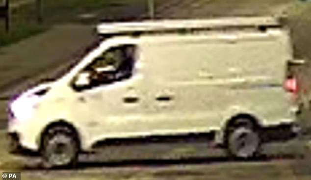 The officer said police are also keen to trace the driver of a van which was seen on CCTV stopping briefly near the scene