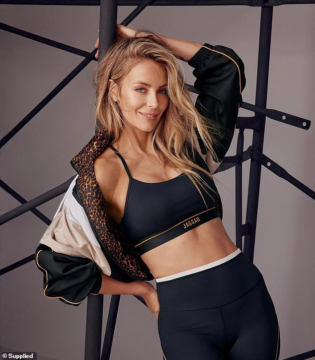 Wow!  Showing off her physique, Myer's former face designed a capsule collection for Bec Judd's sportswear brand, JAGGAD, and posed for a stunning photoshoot to promote it.
