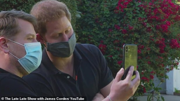 Big deal: Earlier this week, James interviewed his good friend Prince Harry for The Late Late Show with the duo being seen rapping and FaceTiming Meghan Markle.