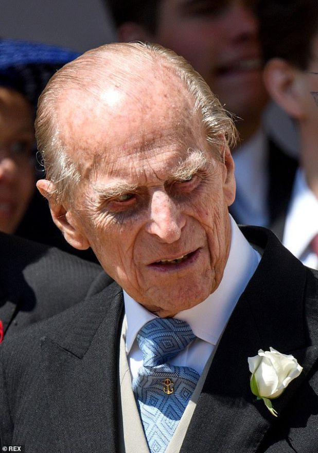 Prince Philip, pictured at Harry and Meghan's wedding in 2018, began his twelfth day in the hospital today.