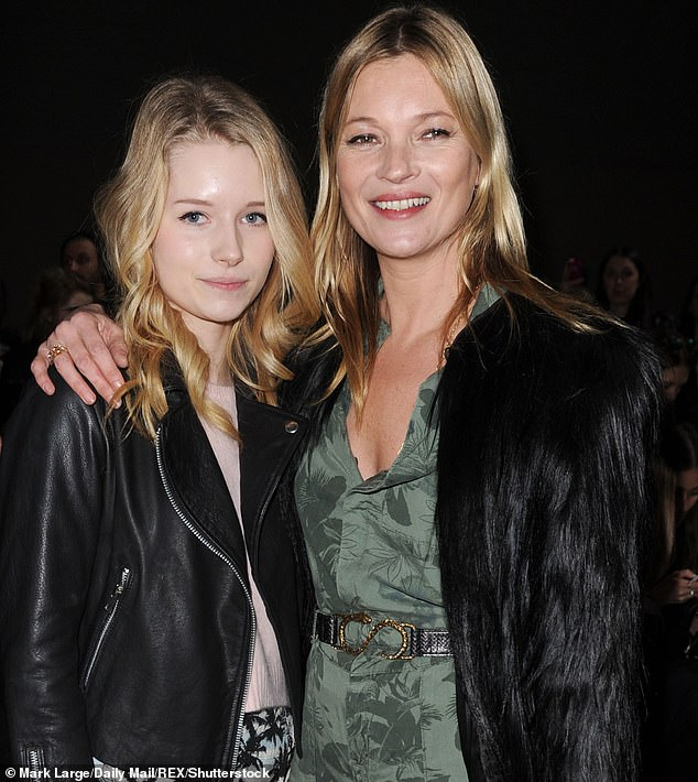 Sisters: Over lockdown, Kate Moss (pictured in 2104) brought her sister in for a spell at her secluded Cotswold home, taking her away from her wild circle of friends