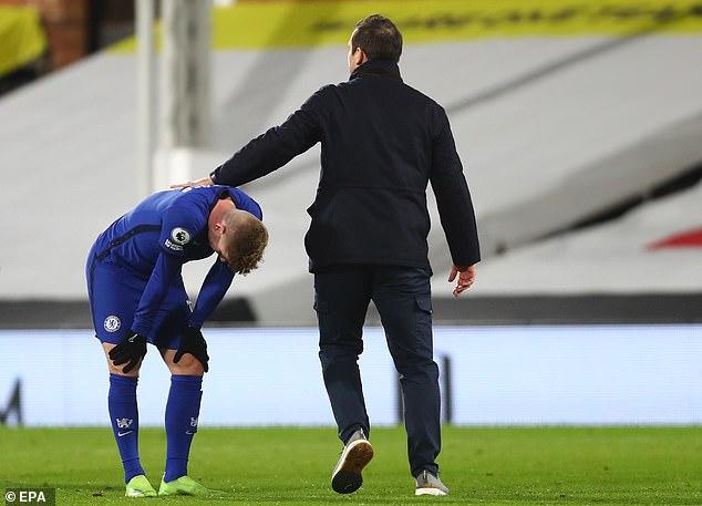 Sin embargo, Werner luego estuvo 14 partidos en la máxima categoría sin un gol mientras el Chelsea luchó mal