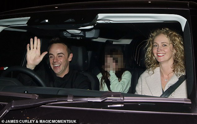 Happy couple: Ant McPartlin and Anne-Marie Corbett looked smacked as they left ITV studios after Saturday Night Takeaway