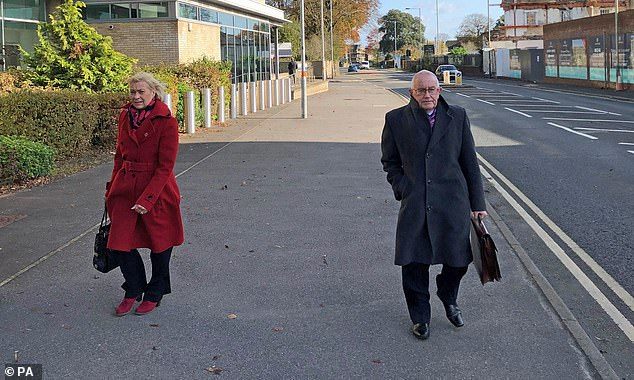 Patrick McLarry, 72, has been stripped of his MBE after he admitted swindling a charity's pension scheme out of nearly £300,000 to pay for a lavish lifestyle including buying property abroad and a pub. Pictured: McLarry with wife Sandra who was secretary at the charity