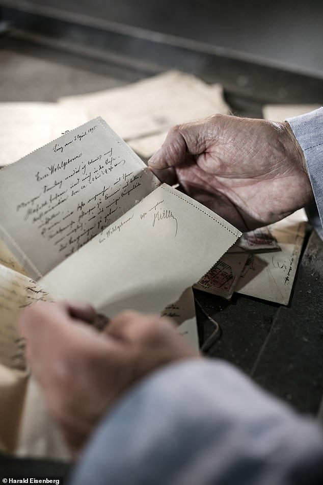 31 letters were included in the never-before-seen trove which have shed a new light on Adolf Hitler's father, Alois