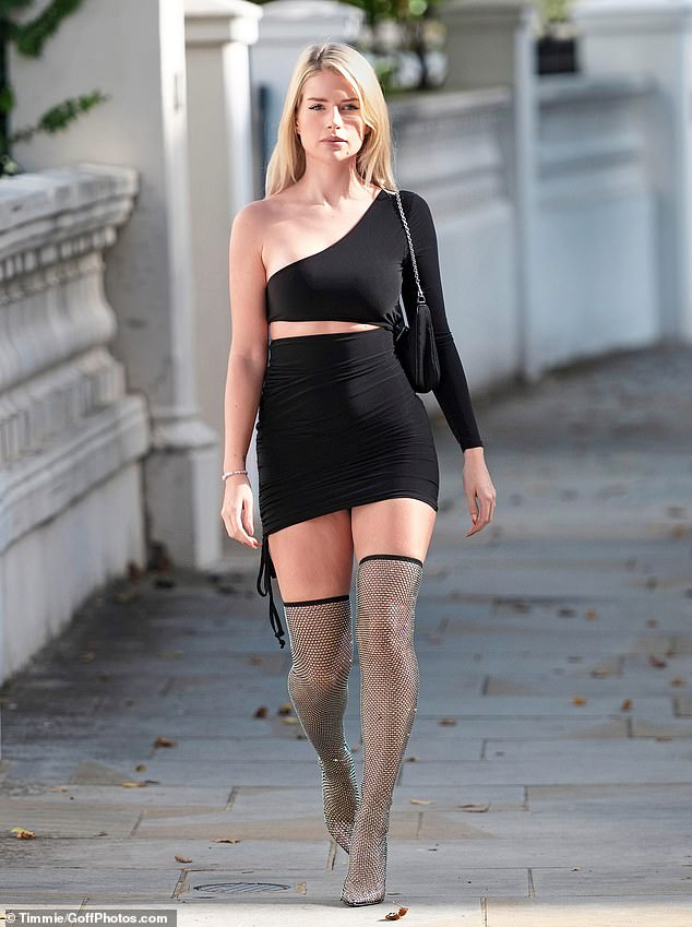 Model behaviour: Storm Management was said to be fighting a desperate campaign to stop Lottie, the younger sister of their most famous signing Kate, from ruining her career