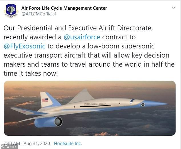 El año pasado, el Pentágono anunció planes para encargar un prototipo para el prototipo de un nuevo Air Force One supersónico que algún día podría transportar al presidente alrededor del mundo a casi el doble de la velocidad y la mitad del tiempo que se requiere actualmente para viajar.