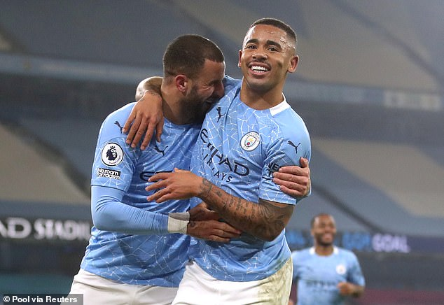 Man City equalled a club record 28 games unbeaten and extended their lead in the table