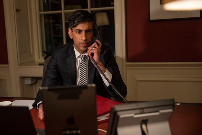 The furlough scheme that has cost Britain £53billion will be extended to the end of September as Rishi Sunak vows to do 'whatever it takes' to help the economy recover. Pictured, the Chancellor calls the Queen last night ahead of the Budget
