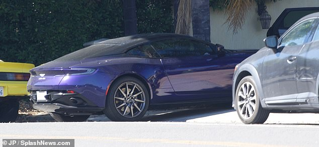 Highly anticipated: The expensive purple sports car was stolen from its driveway in December, with cops later seeing an unknown suspicious speed while on patrol before being abandoned with the engine running in a driveway