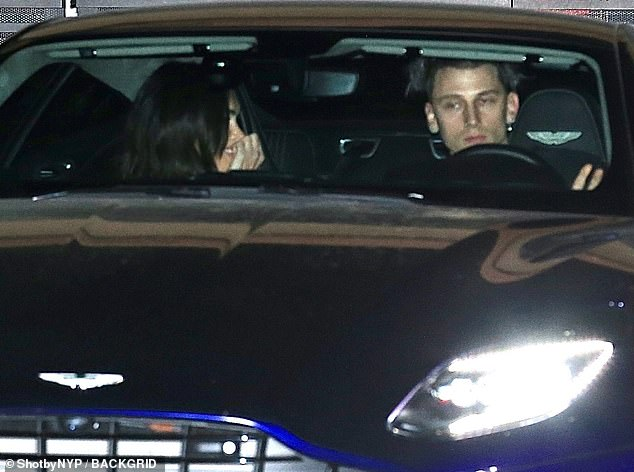 Finally Safe: MGK wasted no time taking their dream girl Fox for a ride on her safe ride home as they hit Nobu in Malibu
