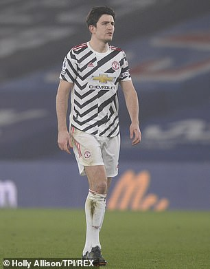Maguire was unhappy with Rashford being offside