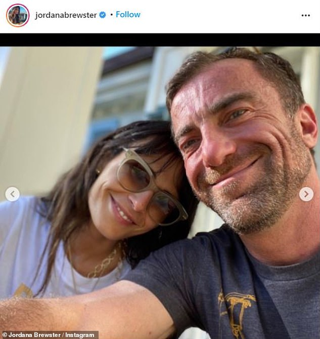Besotted: Meanwhile, the actress gushed over her new love last month on Valentine's Day, describing herself as 'a lucky girl'