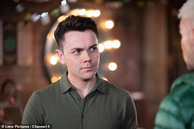 Busy: He claimed, 'It was only ever temporary. I did it for about three months. I felt bored and needed to fill my time. It kept my mind occupied' (pictured in Hollyoaks)
