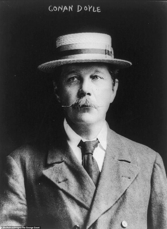 Among the collection of photographs is this portrait of author Sir Arthur Conan Doyle on January 27, 1913. The Sherlock Holmes creator was born on May 22, 1859, in Edinburgh, Scotland, and went on to define the crime fiction genre of novels during his career. It is believed that Sir Arthur Conan Doyle based the characteristics of Sherlock Holmes on the behaviour of Dr Joseph Bell, one of Doyle's teachers at the medicine school at Edinburgh University