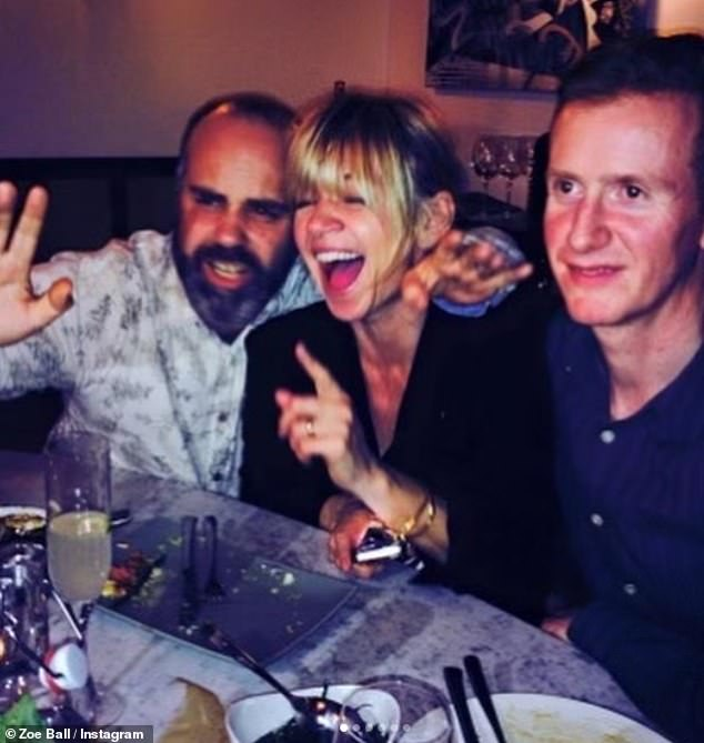 Tragic: Zoe Ball paid tribute to beloved Radio 1 producer Simon Willis who died on Tuesday night