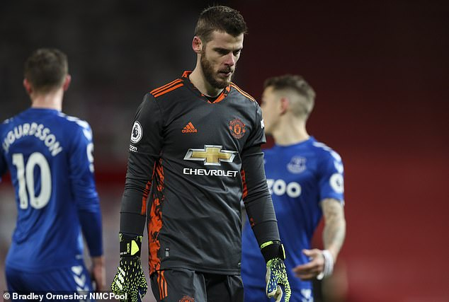 David de Gea's status as Manchester United's undisputed No 1 is under serious threat
