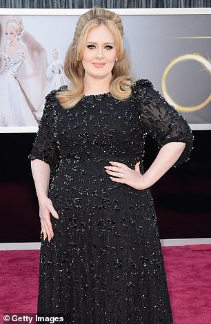 Her choice: Adele has always looked beautiful regardless of her clothes size (pictured in 2016 before her split)
