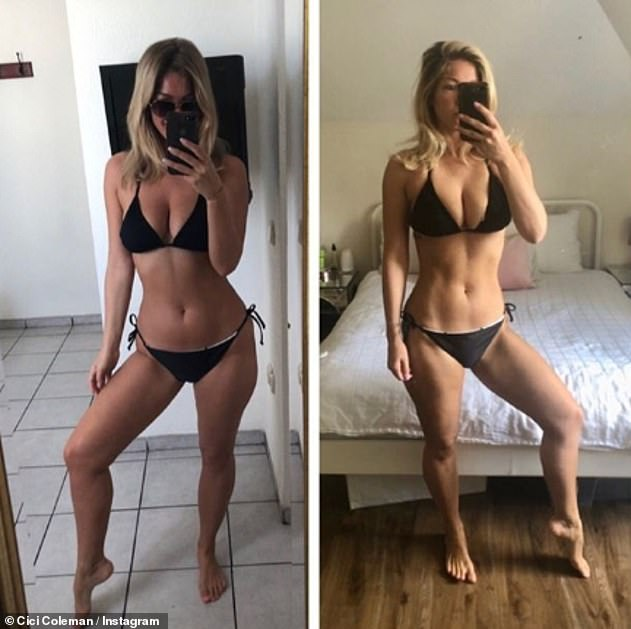 Confession: Cici once admitted she had mental health issues when posting a before and after photo of herself on Instagram