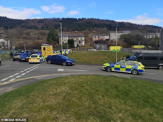 Pictures from the scene show a huge emergency service response with at least 20 vehicles
