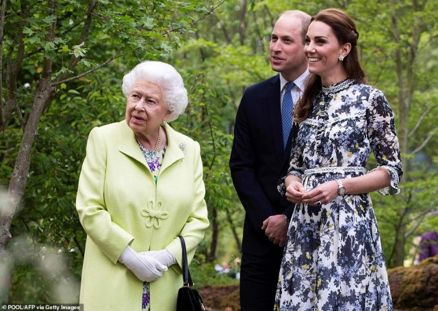 The Queen will be joined by the Duke and Duchess of Cambridge William and Kate on TV