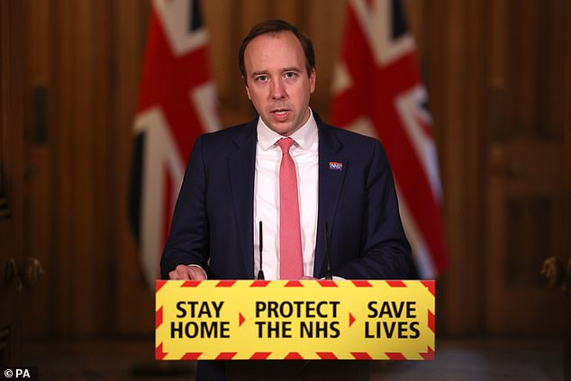 Matt Hancock risked angering the NHS further tonight as he claimed a 1 per cent pay rise for frontline staff was 'fair' and insisted no-one cares about nurses more than him