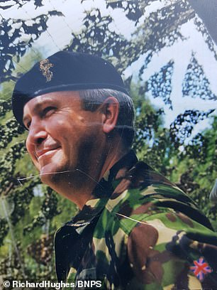 Tax disc collector Richard Hughes served with the military between 1975 and 2000