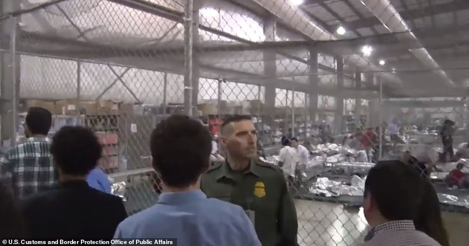 Migrants are held in aSouth Texas warehouse byU.S. Customs and Border Protection officials