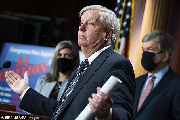 Republican Sen. Lindsey Graham said of Manchin as the Senate stalled. 'I don't know where they're at. The public needs to know. Save Joe Manchin!'