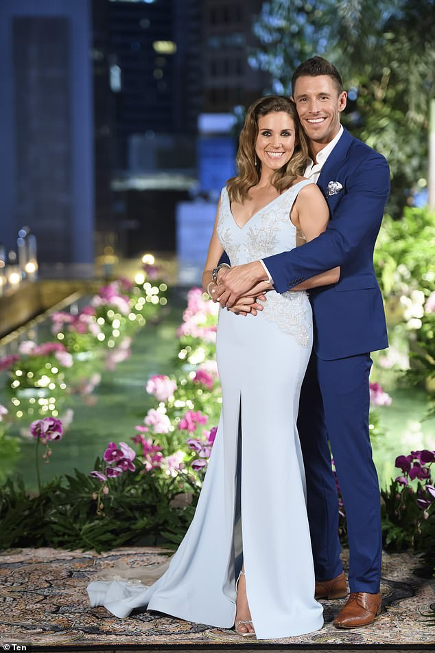 Going the distance: Georgia chose Lee as her winning contender in Channel Ten's 2016 The Bachelorette season (pictured)