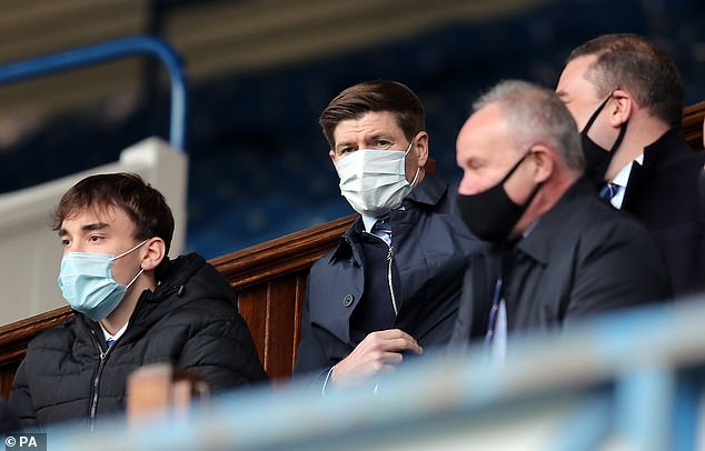 Steven Gerrard, banned from the touchline, watched his side dominate from the stands