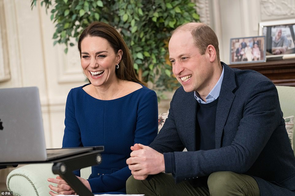 Duke and Duchess of Cambridge during there virtual engagement which will appear in the Commonwealth Day programme on Sunday. March 6, 2021