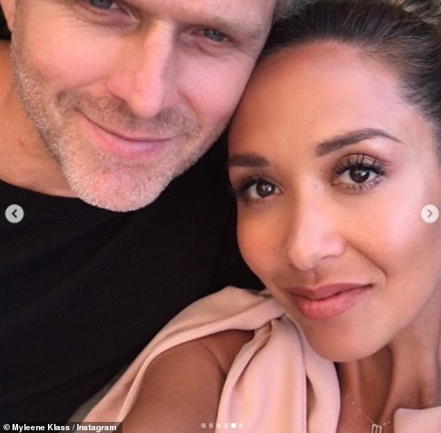 Her man: The engagement hasn't stopped people contacting Myleene Klass, hoping for a chance at romance with the star (pictured withfiancé Simon Motson)