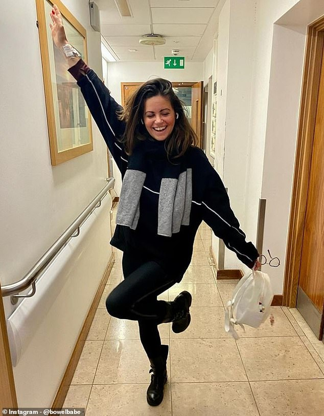 Campaigner, broadcaster and author Deborah James, 38, said protecting cancer care should be a priority (pictured upon leaving hospital after going through an operation to treat her stage four metastatic bowel cancer)