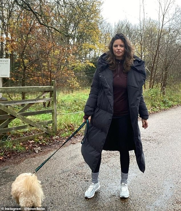 Deborah going on her first walk by herself in January after undergoing an operation to treat her cancer