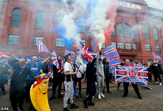 After a decade of Celtic dominance after Rangers were demoted to the fourth tier after a financial collapse, this was a sweet moment for their supporters
