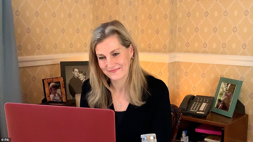Countess of Wessex during her virtual engagement which will appear in the Commonwealth Day programme on Sunday. March 6, 2021