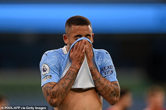 Gabriel Jesus gave the ball away and then fouled Anthony Martial for Man United's penalty