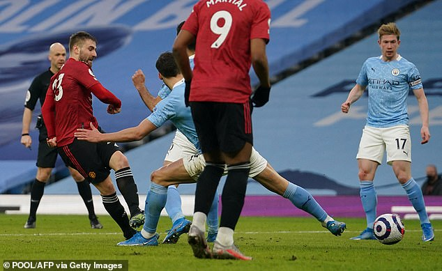 Luke Shaw doubled United's lead five minutes into the second half at the Etihad Stadium