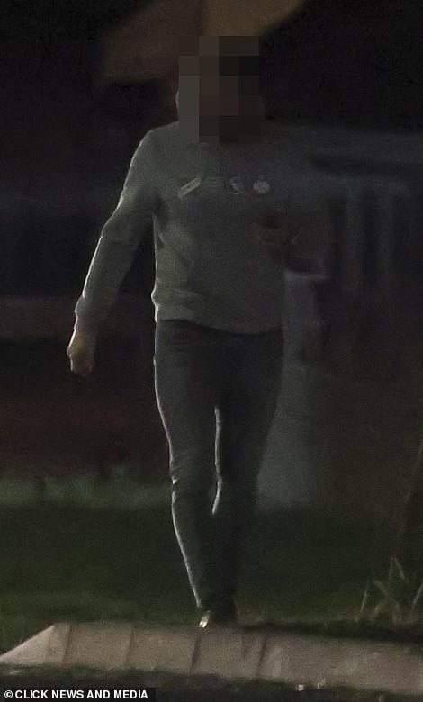 People: A man was also seen heading into the property during the evening